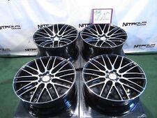 "22"" Savini BM13 BM-13 Concave Staggered 2-tone Black 9"" 10.5"" Mesh Wheels W201F"