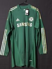 Chelsea Adidas Goalkeeper Techfit Soccer Player Issue Football Jersey Size 12