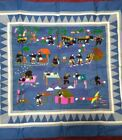 Hmong story cloth tapestry embroidered handmade art tiger folktale