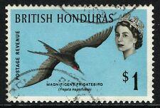 SG 211 BRITISH HONDURAS 1962 - $1 MULTICOLOURED - USED