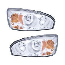 04-07 Chevy Malibu/Malibu Maxx Headlight Assembly Driver Passenger Side Pair