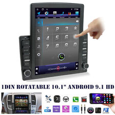 "Rotatable 10.1"" Android 9.1 HD 1DIN Quad-core 2GB+32GB Car Stereo Radio GPS Nav"