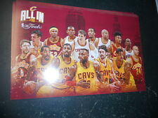 CLEVELAND CAVALIERS CAVS NBA Finals Watch Party POSTER + LEBRON JAMES PROGRAM +