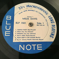 Blue Note 1501 LP Lexington MILES DAVIS Flat Edge EAR DG  RVG Jazz Record