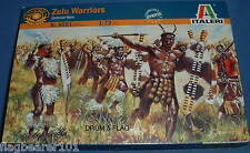 ITALERI 6051. ZULU WARRIORS. ZULUS. 1:72 SCALE UNPAINTED PLASTIC