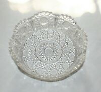 """Vintage Decorative Pressed Glass Candy/Nut Dish or Bowl 6 3/4"""" Diameter"""