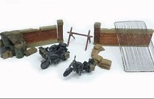 PMA BY BLITZ 72 1/72 WWII GERMAN P0306 BMW R75 Motorcycles with Diorama pieces