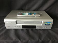 PHILIPS VR540 VCR VHS Video Cassette Player/Recorder & Remote Control (r351)