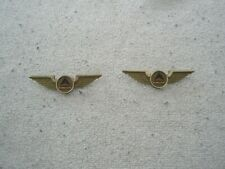 2  Delta Airlines plastic Junior Flyer wings pins Stoffel Seal 1980's