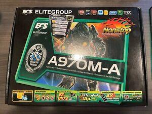 ECS A970M-A AM3+ ATX Motherboard, new