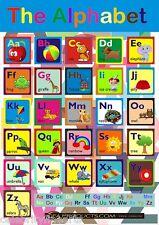 ABC Ayuda Aprendizaje Niños Educativo Alfabeto GRÁFICO Y SIN PARA COLOREAR HOJA