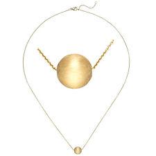 Echt Gold Collier Kugel Anhänger 750er Gelbgold 18 Karat Halskette Goldkette neu