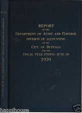 1939 Report of the Department of Audit & Condrol 1939 City of Buffalo NY