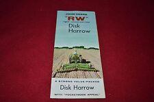 John Deere Rw Disk Harrow Dealer's Brochure Gdsd4