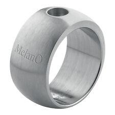 Melano magnétique Bague en acier inox 12 mm largeur taille 57 MATT pour aimant