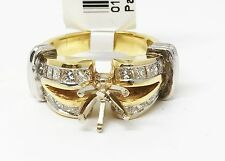 Two Toned 18K  Yellow Gold and Platinum Semi Mount Engagement Ring, Dia 1.25 CT