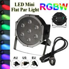 84W RGBW 4 IN 1 7 LED Lighting Flat Par Club Bar DJ Stage Party Wedding Light