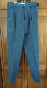 DOCKERS Pleated Front Blue Denim Khakis various sizes NOS Vintage Levis 1995