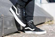 new mens 8 Vans Sk8-Hi reissue premium Leather VN000ZA0EW9 black/white