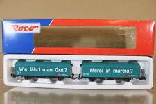 ROCO 44126 SBB CFF CARGO SLIDING DOOR VAN WAGON SET MINT BOXED nl