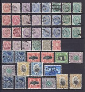 TONGA 1886-1897, 46 STAMPS