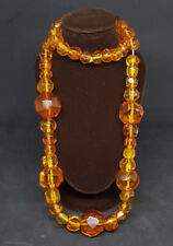 BEAUTIFUL NATURAL ANTIQUE BALTIC HONEY AMBER BEAD NECKLACE 73 G.
