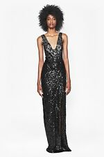 French Connection Black Cosmic Ombre Sequin Sparkle Maxi Dress Size : 10