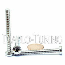 M5 x 50mm - Qty 10 - Stainless Steel Phillips Pan Head Machine Screws DIN 7985 A