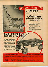1946 PAPER AD Allied American Steel Corp AA Express Coaster Wagon