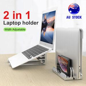 Aluminum Vertical Laptop Stand Adjustable Desktop Holder For MacBook Notebook