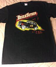 Brian Setzer 2007 Japan Tour Shirt Rockabilly Hot Rod Stray Cats Size Large New