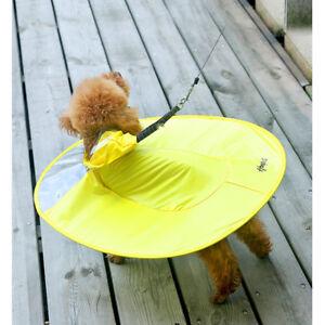 UFO Shape Dog Poncho Dog Puppy Waterproof Raincoat for Teddy Chihuahua Puppy