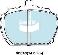 Brake Disc Pad Set  Bendix DB840 GCT For FORD ROVER 2000-3500 TRIUMPH Stag