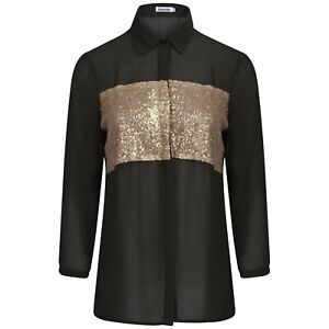 Ladies Sequin Full Sleeve Shirt Women Party/Going Out