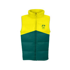 AOC Australian Olympic Adults 3XL Supporter Padded/Puffer Vest Sport Green/Gold