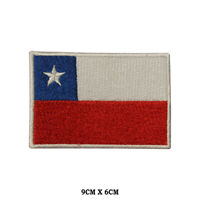 CHILE National Flag Embroidered Patch Iron on Sew On Badge For Clothes etc