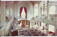 Old North Church Interior - Boston, MA - Unposted 1960s