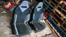GENUINE PEUGEOT 206 GTI 180 FRONT SEATS INTERIOR IN BLACK / GREY RARE ~