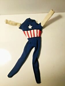 Vintage Ideal 1966 Captain Action Original Captain America Suit