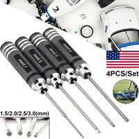4PCS Hex Screwdriver Tool Kit For RC Car Helicopter Drone 1.5/2.0/2.5/3.0 mm