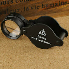 30x Triplet Coin Jewelry Eye Loupe Magnifier Jewelers Diamond Loop