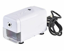 Desktop White Automatic Electric Pencil Sharpener Heavy Duty With UK Plug