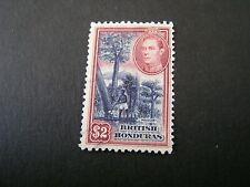 BRITISH HONDURAS, SCOTT # 125, $2.00 VALUE 1938 KGVI DEFINITIVE ISSUE USED