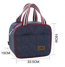 Denim Insulated Cool Lunch Bag Beach Picnic