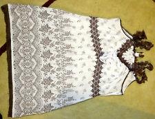 TREDY traumschöne Tunika Shirt Bluse Gr. 40 / 42 mit SPITZE BAUMWOLLE