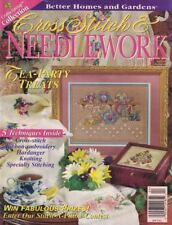 Cross Stitch & Needlework Apr 1997 TEA PARTY TREATS Easter Spring Designs & More