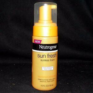Neutrogena Sun Fresh Sunless Self Tanning Foam for Fair to Medium Skin Tones