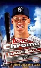 2017 Topps Chrome Baseball Factory Sealed Hobby Box (2 Autos per Box)