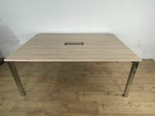 More details for birch chrome office boardroom meeting table 1800mm