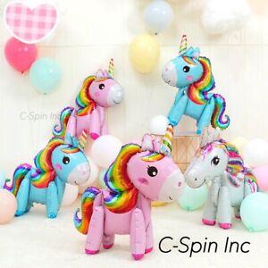 3x 3D Unicorn Foil Balloons Helium Balloon Birthday Baby Shower Bride Party Cute